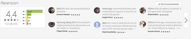 recensioni play store