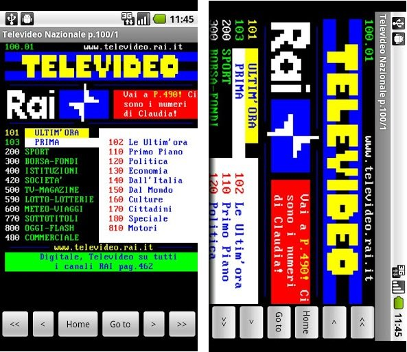 televideo rai per android