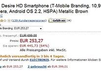 [Update] Preisfehler: Desire HD mit T-Mobile Branding bei Amazon für 253€ - Hat man einen Anspruch auf das Gerät?
