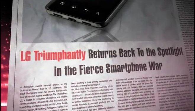 [Video] Offizieller Teaser zum LG Optimus 3D