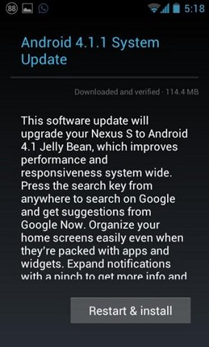 jelly bean nexus S