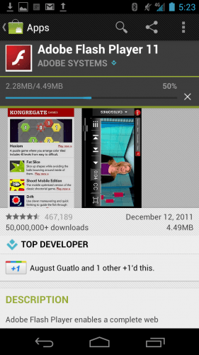 Flash For Android 4.0 Ice Cream Sandwich