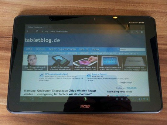 acer iconia tab a510 unboxing