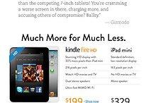 Kindle-Fire-HD-Werbung: Amazon ätzt weiter gegen iPad mini