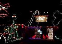 Decoración con luces de Navidad al estilo Angry Birds