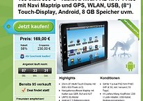 "[Schnäppchen] a-rival PAD 83 - 8"" Android Tablet mit 3G & GPS für 169€"