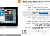 Deal: Galaxy Tab 2 mit 10-Zoll-Display und 3G für 333 Euro