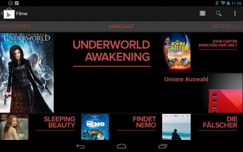 taugt das was google movies auf dem nexus 7 im test androidpit. Black Bedroom Furniture Sets. Home Design Ideas