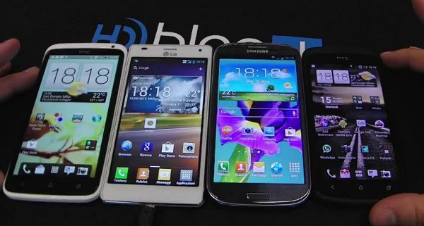 HTC One X HTC One S LG Optimus 4X HD Samsung Galaxy S3