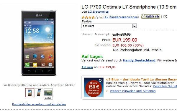 LG Optimus L7 Angebot Deal Schnäppchen