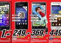 """Aktuelle """"Android-Deals"""" bei Media Markt – HTC Sensation, LG Optimus 3D, Xperia Ray und Galaxy S2 (in weiß) zum Tiefstpreis"""