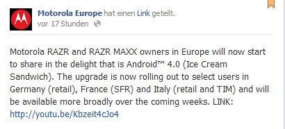 motorola razr maxx android 4.0 update