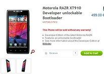 RAZR - Motorola débloque le Bootloader de manière inattendue