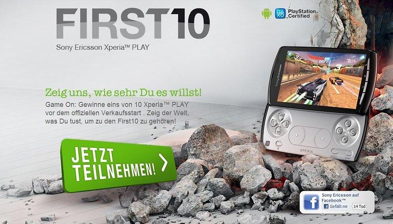 10 Sony Ericsson Xperia Play zu gewinnen – SE startet First10 Gewinnspiel