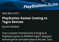 PlayStation Suite für Tegra 2 Geräte ab Ende dieses Jahres