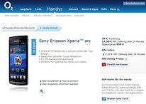 Sony Ericsson Xperia Play & Xperia Arc jetzt bei O2 erhältlich