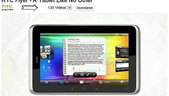 [Video] HTC Flyer – A Tablet like no other