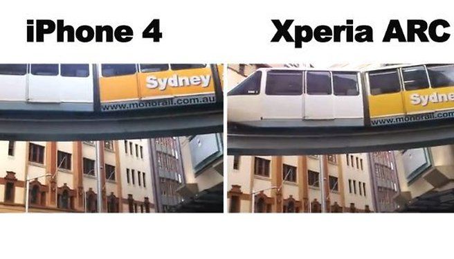 [Video] iPhone 4 and SE Xperia Arc Cameras Compared