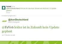 Und wieder ein Hersteller mit schlechtem Support – Acer bringt kein Android 2.3 fürs Stream