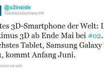 LG Optimus 3D und Galaxy Tab 10.1 ab Ende Mai/Anfang Juni bei O2