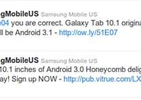 Samsung Galaxy Tab 10.1 erscheint mit Android 3.1