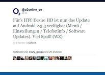 Android 2.3.3 für das HTC Desire HD (O2) jetzt verfügbar