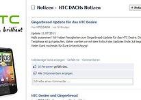"""Gingerbread für das HTC Desire – """"Rollout"""" beginnt Ende Juli"""