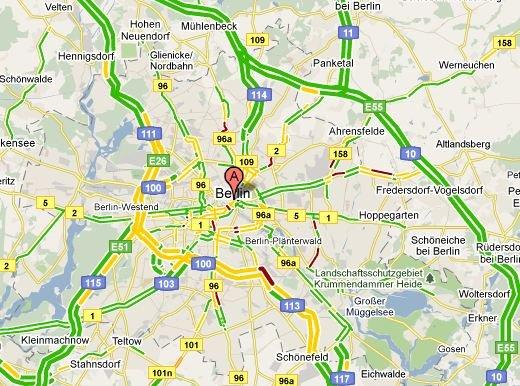 Google Maps zeigt jetzt aktuelle Verkehrsdaten in ...