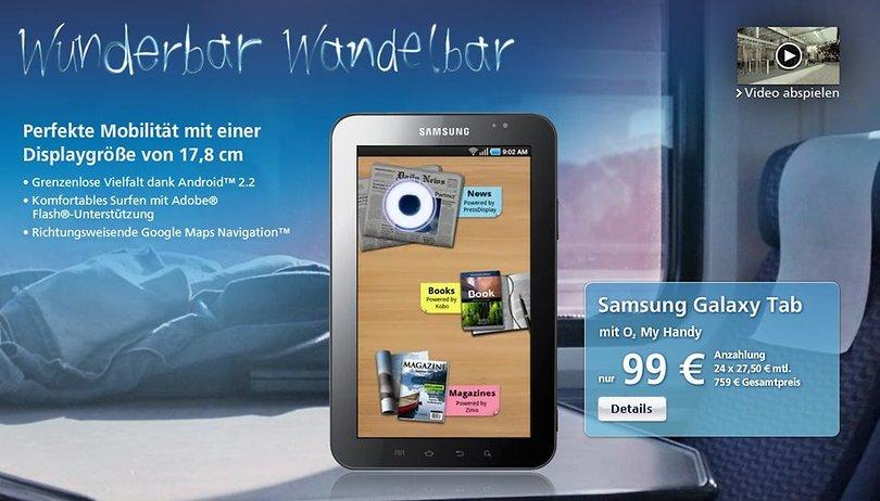 Samsung Galaxy Tab kommt für €759 zu O2