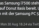Android 1.6 Update fürs Samsung Galaxy  i7500