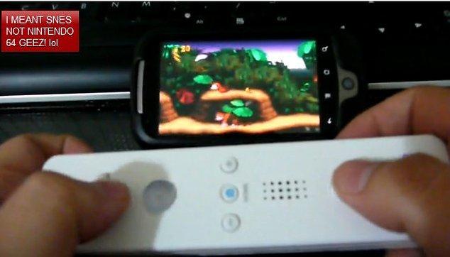 """Auf dem Androidphone mit dem Wii Controller """"zocken"""" - Video"""