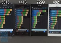 Vier Quad-Core-Androiden im Benchmark-Fight