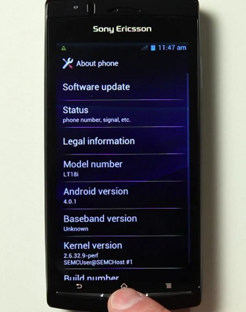 Android ICS 4.0 Alpha Build For Sony Ericsson