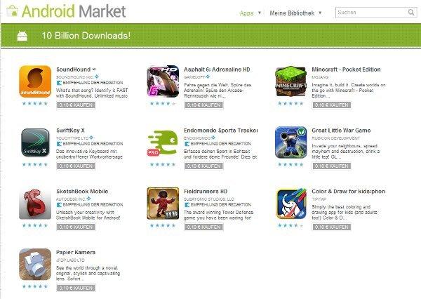 descargas Android Market