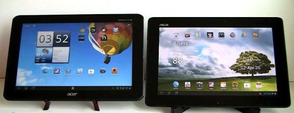 Acer Iconia Tab A510 vs Transformer Pad TF300