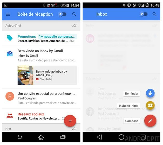 AndroidPIT Inbox by Gmail Invitation FR