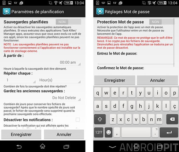 comment sauvegarder sms android planifie
