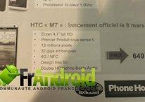 HTC M7 : un document montre sa date de sortie et son prix en France