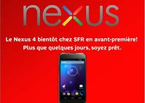 Le Nexus 4 disponible en France chez SFR
