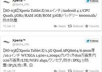 Fuite : tablette Sony Xperia Z, caractéristiques techniques