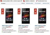 Le Xperia Z disponible en pré-commande chez SFR : les tarifs