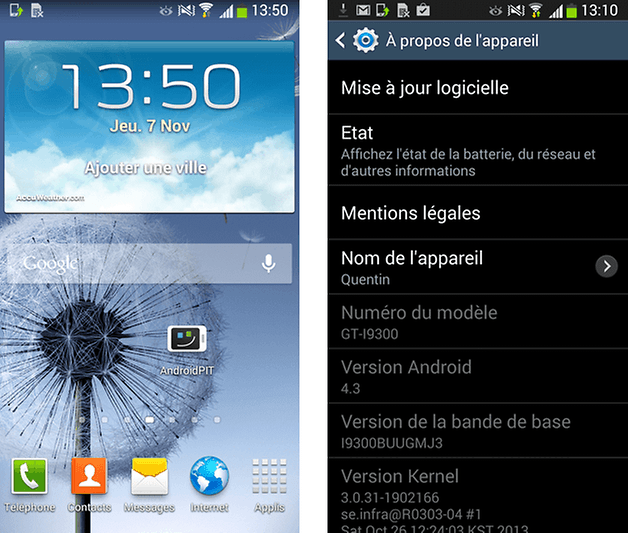 android 4 3 galaxy s3 1