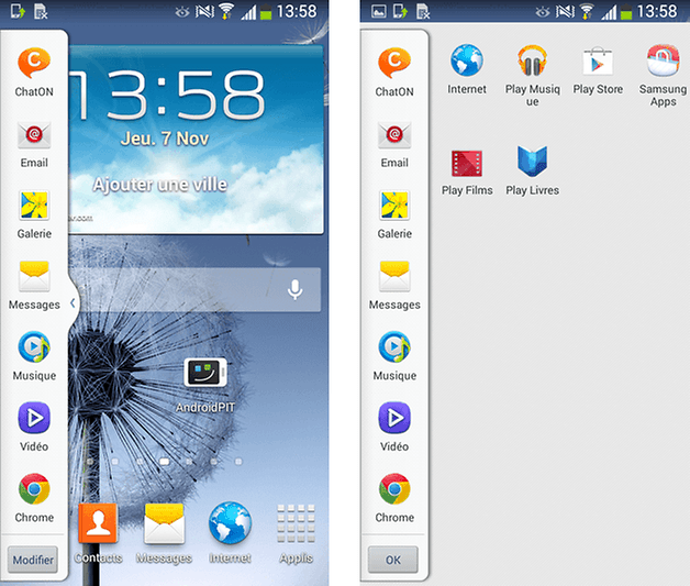 Mise jour android 4 3 sur le samsung galaxy s3 quels for Multi fenetre android