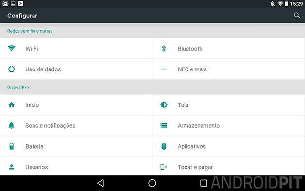 android l nexus 7 parametres