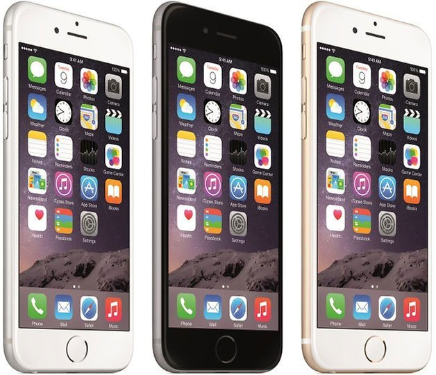 apple iPhone 6 press colors