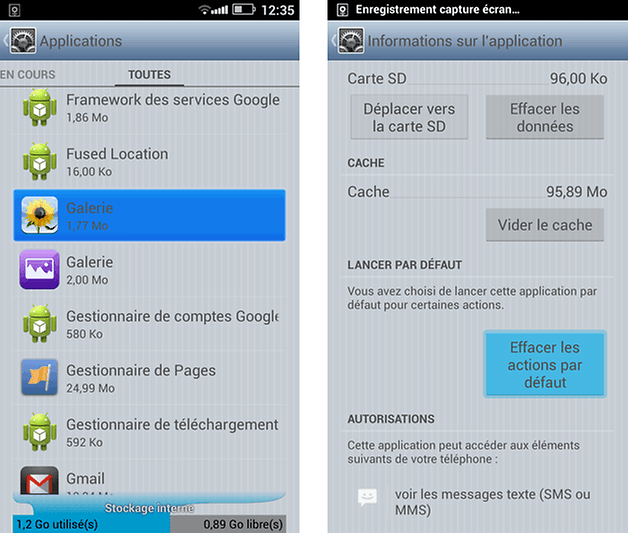 applications par defaut android 1