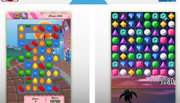 Duel Android : Candy Crush Saga contre Jewels