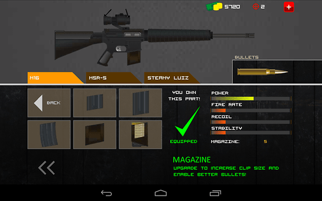 clear vision 3 android jeu test arme