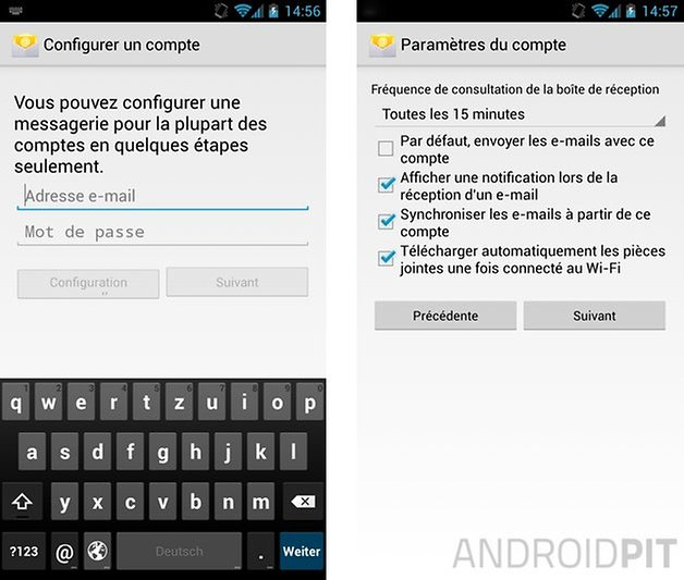 comment configurer mails android 1