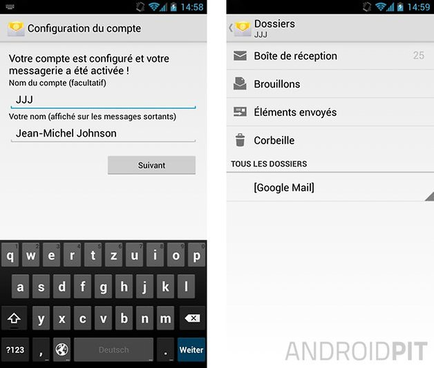 comment configurer mails android 2